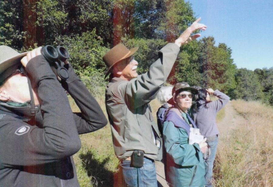 Ralph Pericoli Albany Hill birding group photo